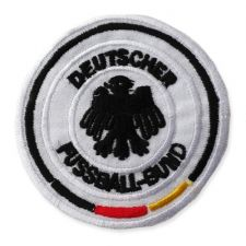 GERMAN FOOTBALL MOTIF IRON ON EMBROIDERED PATCH APPLIQUE
